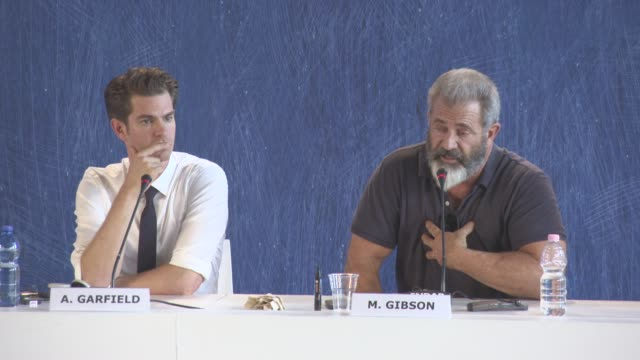 INTERVIEW Mel Gibson on Killing hating wars loving the warrior the death of veterans killing themselves after war at 'Hacksaw Ridge' Press Conference...