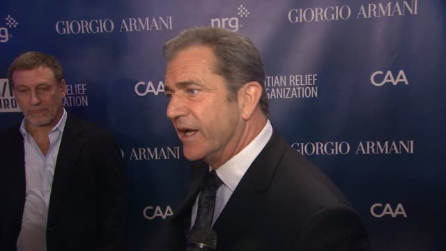 INTERVIEW Mel Gibson on the event at Sean Penn Friends HELP HAITI HOME A Gala to Benefit J/P Haitian Relief Organization Presented by Giorgio Armani...
