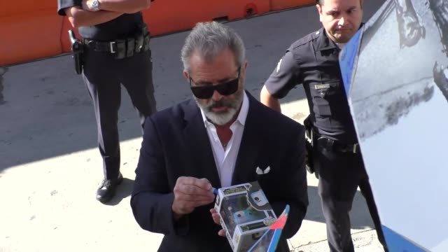 mel gibson outside the daddy's home 2 premiere at village theatre in westwood in celebrity sightings in los angeles - regency village theater stock videos & royalty-free footage