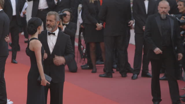 Mel Gibson Rosalind Ross at Closing Ceremony Red Carpet at Palais des Festivals on May 22 2016 in Cannes France
