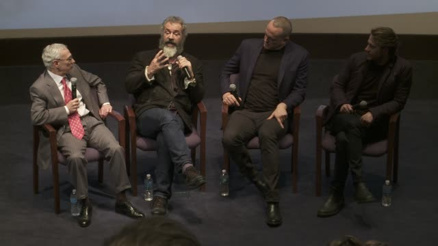 """mel gibson, vince vaughn, luke bracey and colonel jack h. jacobs at """"hacksaw ridge"""" - washington dc special screening and q+a on october 28, 2016 in... - vince vaughn stock videos & royalty-free footage"""