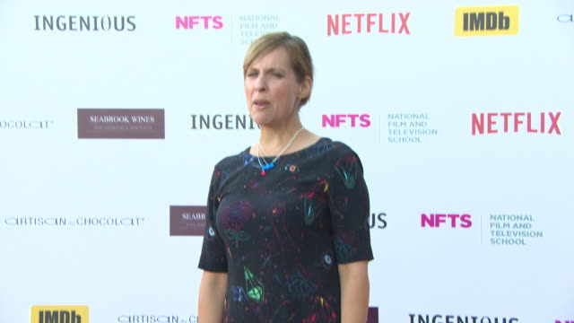 vídeos de stock e filmes b-roll de mel giedroyc at the national film and television school annual gala event at old billingsgate on june 26 2018 in london england - mel giedroyc