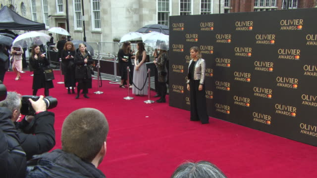 vídeos de stock e filmes b-roll de mel giedroyc at the olivier awards with mastercard at royal albert hall on april 08 2018 in london england - mel giedroyc