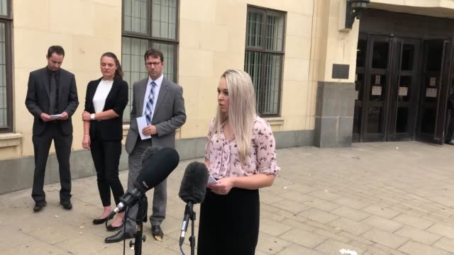 mel reedman of thames valley police on behalf of ann moore-martin's family. benjamin field and martyn smith were cleared of a charge of conspiracy to... - mel smith stock-videos und b-roll-filmmaterial