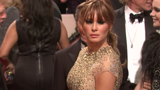 melania trump at the 'alexander mcqueen savage beauty' costume institute gala at the metropolitan museum of art at new york ny - melania trump stock videos & royalty-free footage