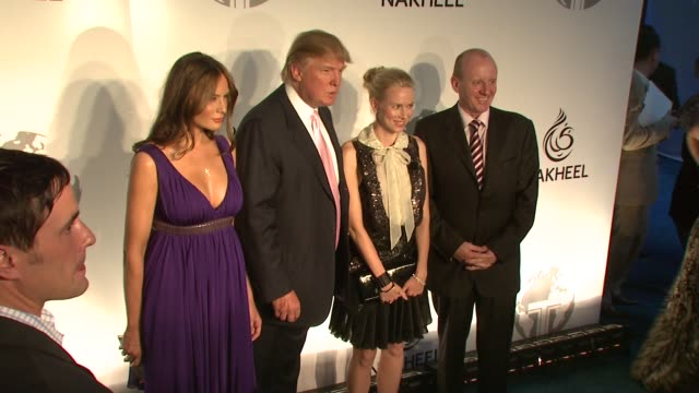 melania trump donald trump naomi watts and guests at the nakheel and donald j trump introduce the trump international hotel tower dubai at new york ny - tower stock videos & royalty-free footage