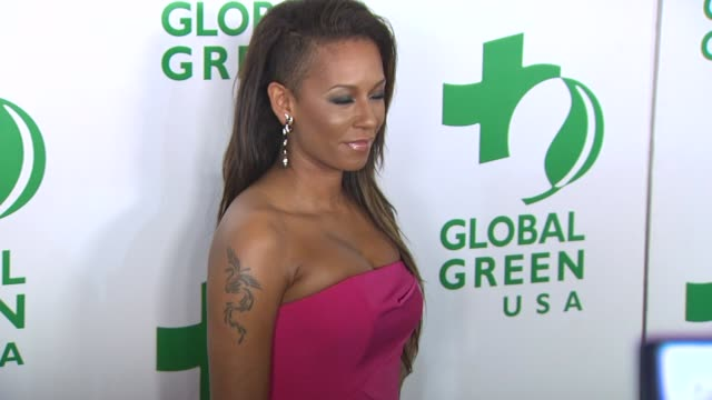 melanie brown at the global green usa's 7th annual pre-oscar party at hollywood ca. - oscar party stock videos & royalty-free footage