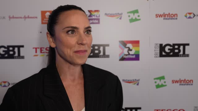 melanie c on the importance of winning the award at british lgbt awards 2021 at on august 27, 2021 in london, england. - art and craft stock videos & royalty-free footage