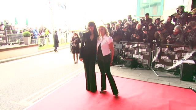 melanie chisholm and emma bunton at the capital awards at the riverbank park plaza hotel in london on march 20, 2008. - spice girls stock-videos und b-roll-filmmaterial