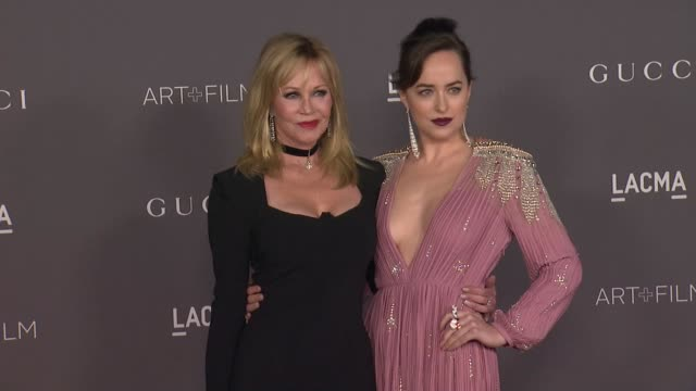 Melanie Griffith and Dakota Johnson at the 2017 LACMA Art Film Gala Honoring Mark Bradford And George Lucas And Presented By Gucci at LACMA on...