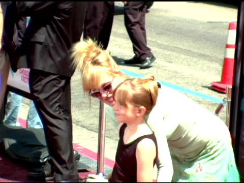 melanie griffith and daughter stella at the 'charlie and the chocolate factory' premiere at grauman's chinese theatre in hollywood california on july... - melanie griffith stock videos and b-roll footage