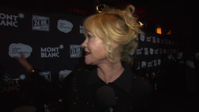 INTERVIEW Melanie Griffith and Laverne Cox on working together at American Airlines Theatre on November 17 2014 in New York City