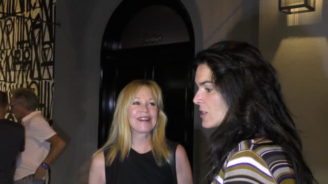 melanie griffith & angie harmon talk about the movie paradise outside craig's restaurant in west hollywood in celebrity sightings in los angeles, - angie harmon stock videos & royalty-free footage
