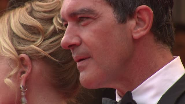 melanie griffith antonio banderas selma hyek at the opening night midnight in paris premiere 64th cannes film festival at cannes - melanie griffith stock videos and b-roll footage