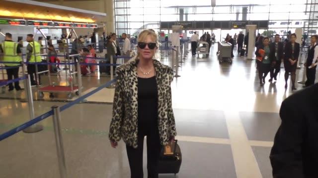 Melanie Griffith at Los Angeles International Airport at Celebrity Sightings in Los Angeles on December 09 2016 in Los Angeles California