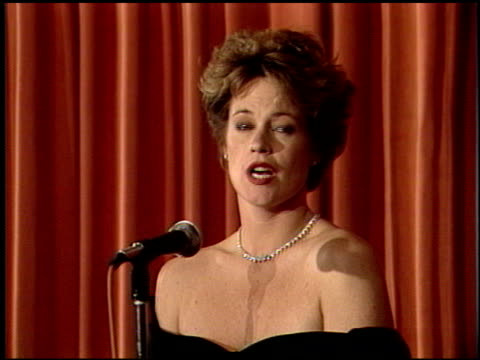 melanie griffith at the 1989 golden globe awards at the beverly hilton in beverly hills california on january 28 1989 - melanie griffith stock videos and b-roll footage