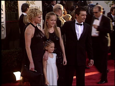 melanie griffith at the 2004 golden globe awards at the beverly hilton in beverly hills california on january 25 2004 - melanie griffith stock videos and b-roll footage