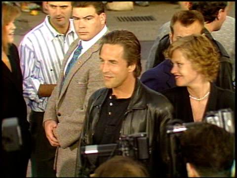 vídeos de stock e filmes b-roll de melanie griffith at the 'batman' premier on may 19, 1989. - melanie griffith