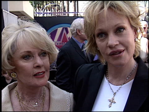 Melanie Griffith at the Dediction of Tippi Hedren's Walk of Fame Star at the Hollywood Walk of Fame in Hollywood California on January 30 2003