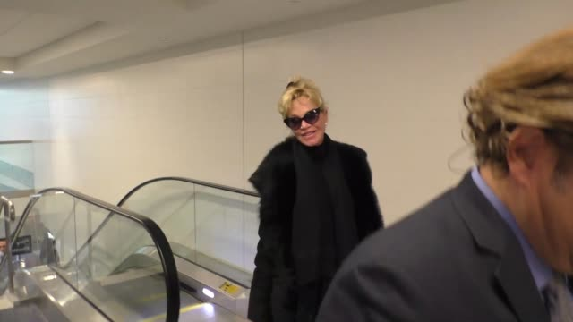 melanie griffith departing at lax airport in los angeles in celebrity sightings in los angeles - melanie griffith stock videos and b-roll footage