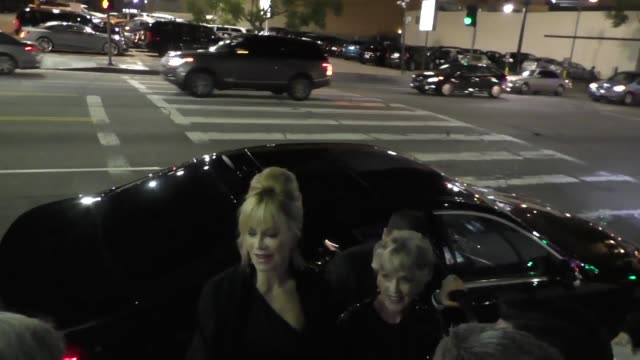 melanie griffith & her mom tippi hedren outside avalon nightclub in hollywood in celebrity sightings in los angeles, - tippi hedren stock videos & royalty-free footage