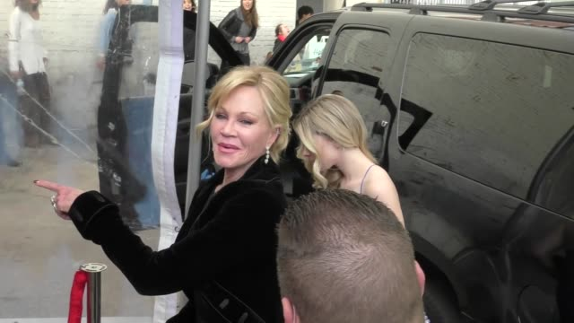 melanie griffith & tippi hedren outside the roger neal oscar viewing party at hollywood museum in hollywood in celebrity sightings in los angeles, - tippi hedren stock videos & royalty-free footage
