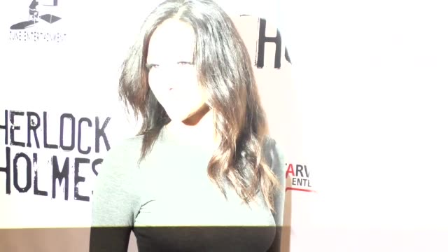 melanie iglesias at the opening night of sir arthur conan doyle's sherlock holmes at the montalban theatre in hollywood - celebrity sightings on... - arthur conan doyle stock videos & royalty-free footage