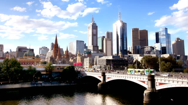 melbourne australia hyperlapse - skyline stock videos & royalty-free footage