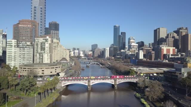 melbourne cbd, victoria, australia - financial district stock videos & royalty-free footage