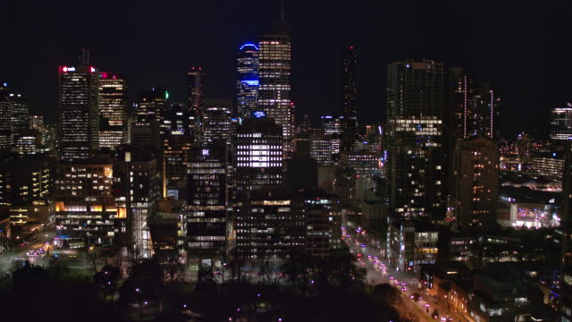 melbourne city at night, victoria - skyline stock videos & royalty-free footage