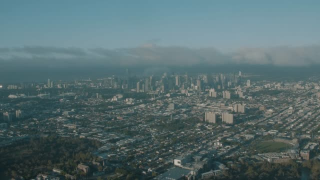 melbourne city in the sunrise - suburban stock videos and b-roll footage