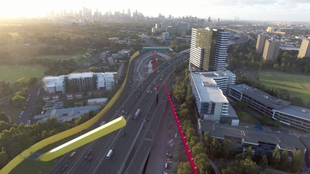 melbourne city link expressway, toll road. - david ewing stock videos & royalty-free footage