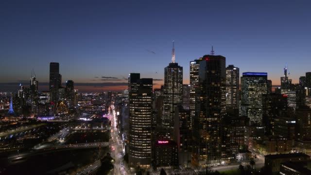 melbourne city, victoria, australia - financial district stock videos & royalty-free footage