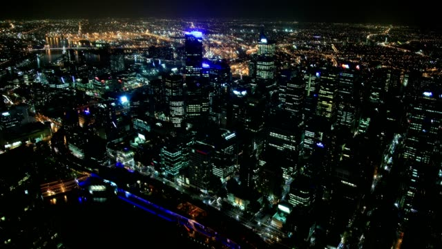 melbourne city (panaromic wiew) - oceania stock videos & royalty-free footage