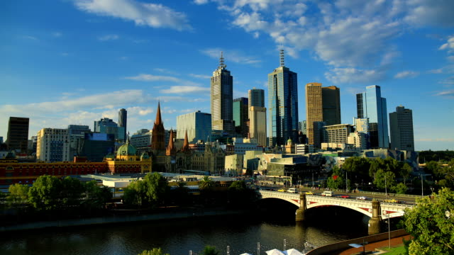 Melbourne: day to night time lapse
