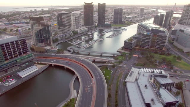 melbourne docklands during twilight. - david ewing stock videos & royalty-free footage