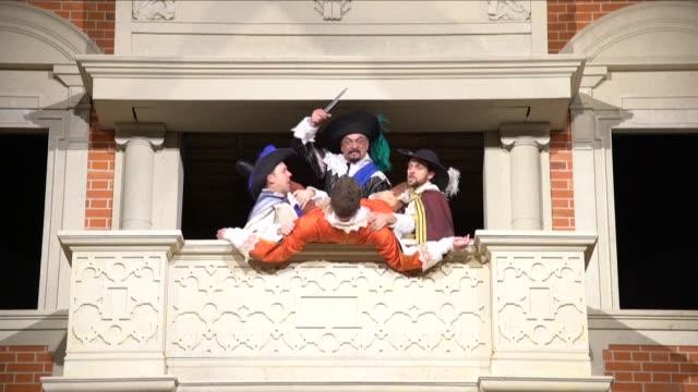 melbourne plays host to a pop up replica of london's centuries old globe theatre closely associated with william shakespeare - william shakespeare stock videos & royalty-free footage