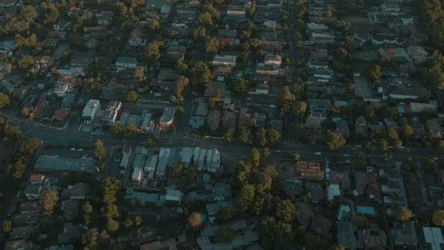 melbourne suburb in the sunrise - road stock videos & royalty-free footage