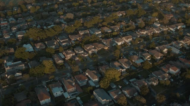 Melbourne suburb in the sunrise