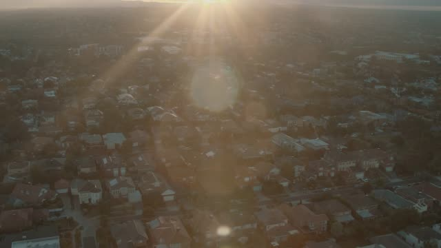 melbourne suburb in the sunrise - melbourne australia stock videos & royalty-free footage