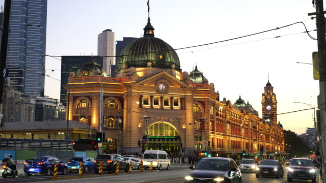 melbourne train station in australia - urban road stock videos & royalty-free footage