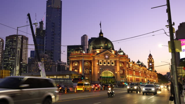 melbourne train station in australia - tram stock videos & royalty-free footage