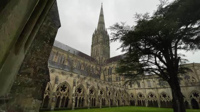 melding the ornate trappings of medieval faith with 21st century science, salisbury cathedral is injecting new hope into thousands of elderly people... - ornate stock videos & royalty-free footage