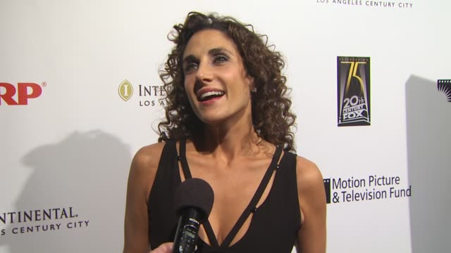 melina kanakaredes on supporting the motion picture and television fund on performing at tonight's benefit and on the first broadway show she saw at... - motion picture & television fund stock videos & royalty-free footage