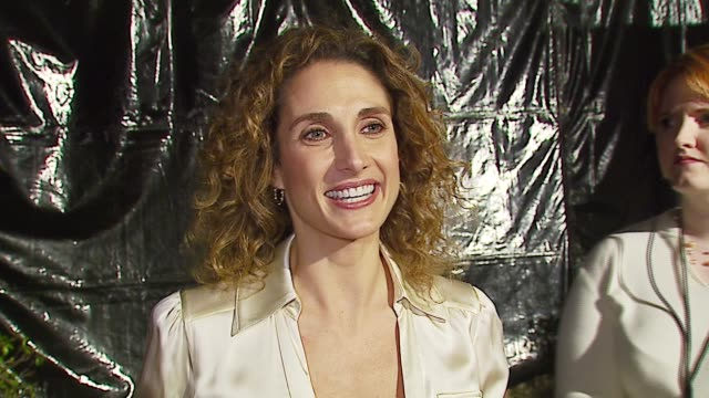 vídeos y material grabado en eventos de stock de melina kanakaredes on the event the first broadway show she attended her definition of romance her holiday plans at the 'a fine romance' event... - península de gower