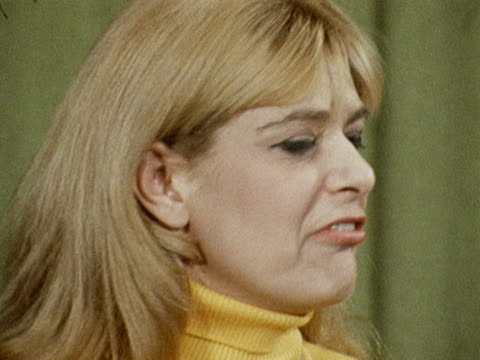 melina mercouri talks about the generals who have taken over greece and her campain to restore democracy to her country. april 1968. - greece stock videos & royalty-free footage