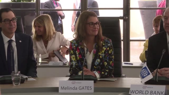 melinda gates co chair of the gates foundation attending the g7 in france presents a report on the economic inclusion of women in africa - attending stock videos and b-roll footage