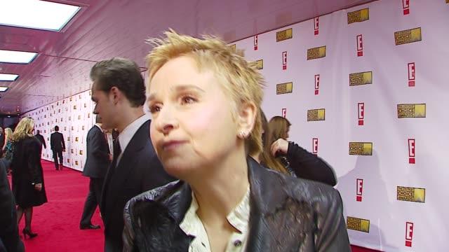 melissa etheridge on being nominated, being at a movie award show at the broadcast film critics association's 2007 critic's choice awards at santa... - ブロードキャスト映画批評家協会点の映像素材/bロール
