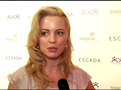 melissa george at the step up women's network inspiration awards sponsored by escada at the beverly hilton in beverly hills california on april 27... - escada stock videos & royalty-free footage