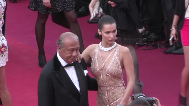 melissa george bella hadid and fawaz gruosi on the red carpet for the premiere of cafe society and the opening ceremony of the cannes film festival... - melissa george stock videos & royalty-free footage